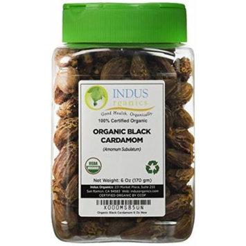 Indus Organic Black Cardamom Whole, 6 Oz, Freshly Packed
