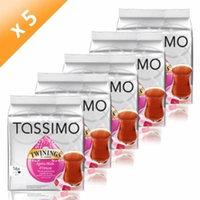 Tassimo Twinings Après-Midi d'Orient, Black Tea Flavor, Pack of 5, 5 x 16 T-Discs