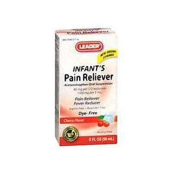 Leader Infant Pain Reliever, Dye Free Cherry, 2oz. - Compare to Tylenol