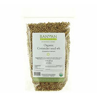 Banyan Botanicals Coriander Whole - Certified Organic, 1/2 lb - Coriandrum sativum - A cooling household spice that promotes healthy digestion