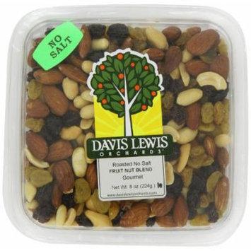 Davis Lewis Orchards Fruit Nut Blend, Roasted No Salt, 8 Ounce