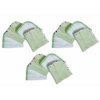 American Baby Company Organic Wash Cloth, 12 Pack - Celery