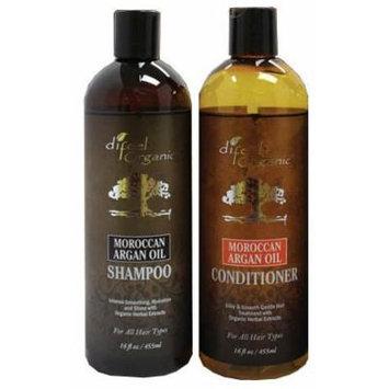 Difeel Organic Moroccan Argan Oil Shampoo 16 Oz and Argan Oil Conditioner Set !!!