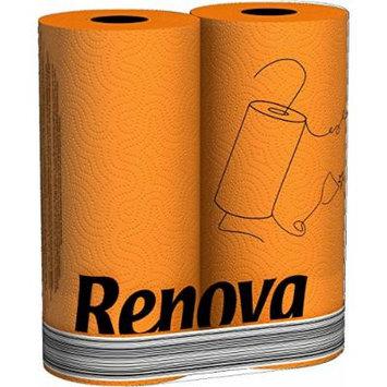Orange Paper Towels 2 Pack- Renova