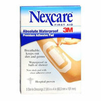 Nexcare Waterproof Transparent Dressing Sterile Adhesive Pads 5 ea Pack of 6