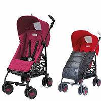Peg-Perego Pliko Mini Stroller w Pliko Mini Boot, Charcoal (Fleur)