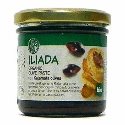 Iliada Organic Black Olive Paste from Kalamata Olives,4.7 oz