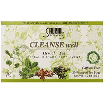 Salem Botanicals Herbal Tea, Cleanse Well, 20 Count