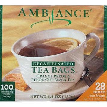 100 Ambiance Orange Pekoe & Pekoe Cut Black Tea Bags Decaffeinated