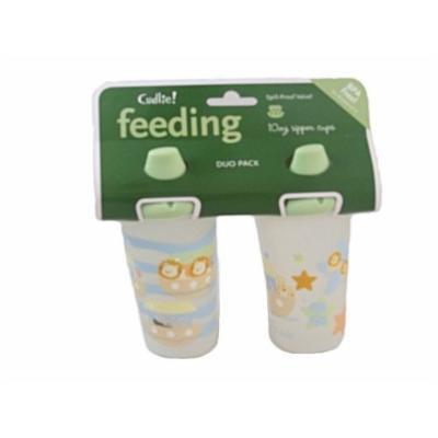 Cudlie Feeding 10 Oz. Sipper Cups Duo Pack Bpa Free