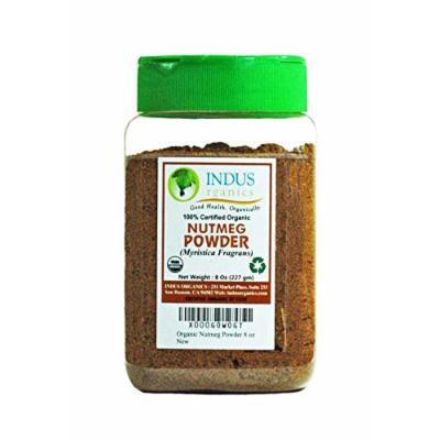 Indus Organic Nutmeg Ground 8 Oz, Freshly Packed