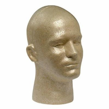 Case Pack of 8 Giell Styrofoam Foam Mannequin Wig Head Display Male Tan