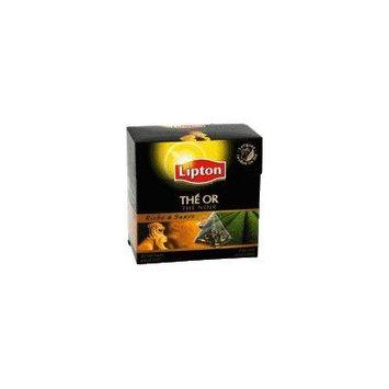Lipton Black Tea - Gold Tea Long Leaves - Premium Pyramid Tea Bags (20 Count Box) [PACK OF 3]