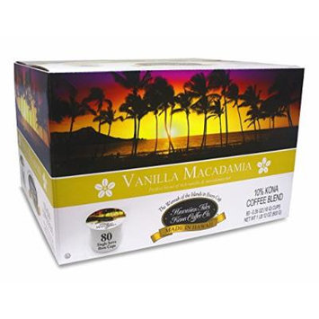 Vanilla Macadamia Kcup 80 Pack Single Serve Cup Kona Coffee