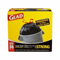 Glad Extra Strong Outdoor Drawstring Large Trash Bags, 30 Gallon, 56 Count