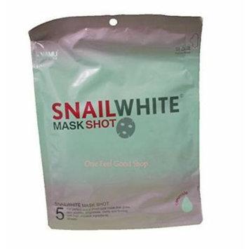 5 Pcs. Snail White Mask Shot Facial Whitening Repair Renew Recovery