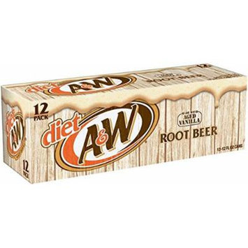 A&W Root Beer Diet, 12 oz Can (Pack of 24)