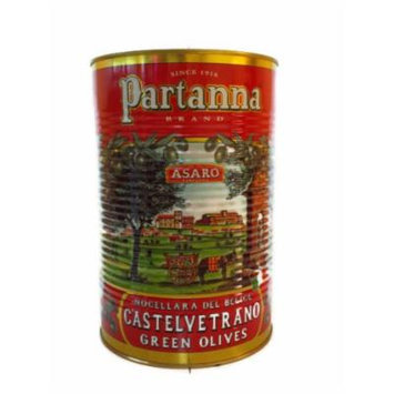 Pitted Castelvetrano Green Olives - 5.1 Pound Can