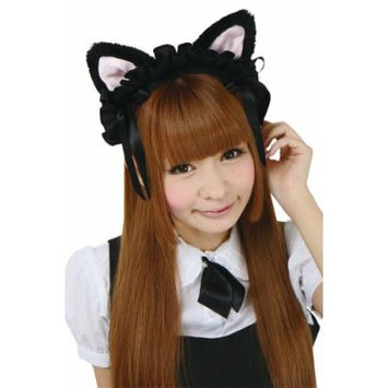 Black cat ear maid headband