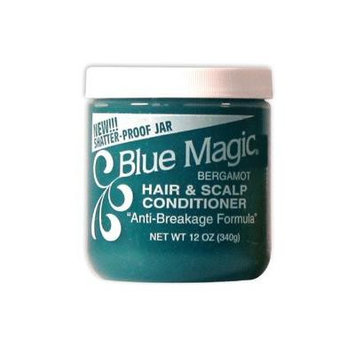 Blue Magic Bergamot Hair and Scalp Conditioner, 12 Ounce (Pack of 3)