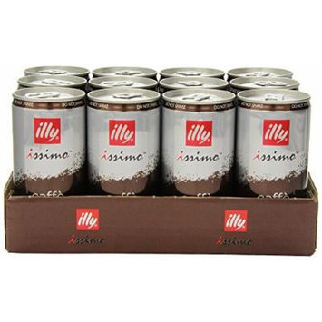 illy issimo Coffee Drink, Caffè, 6.8-Ounce Cans (Pack of 12)