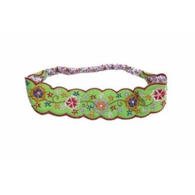 Sizzle City Custom Bling Rhinestone Bohemian Pattern Seed Bead Elastic Stretch Headbands (Bohemian Embroidered Headband B)
