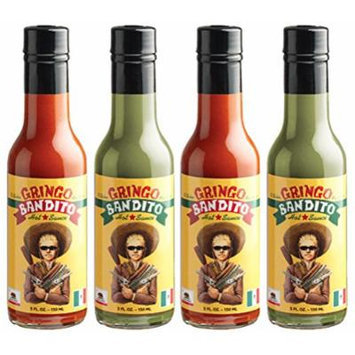 Gringo Bandito Hot Sauce Variety Pack, 5 Ounce (Pack of 4)