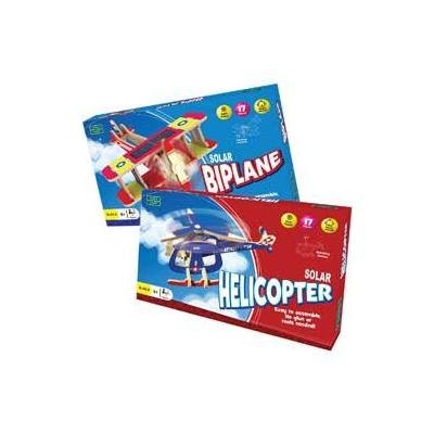 Solar Helicopter And Solar Biplane Craft Kit.