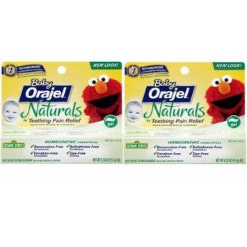 Orajel Baby Naturals Teething Gel, 0.33 Ounce (Pack of 2)
