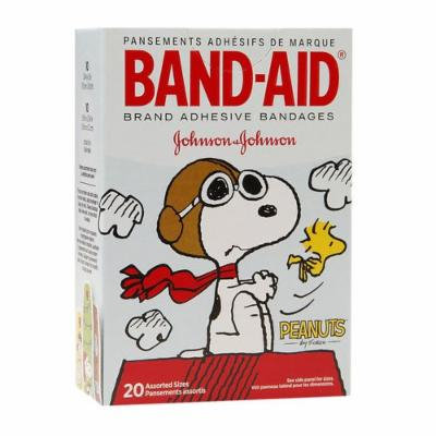 Band-Aid Adhesive Bandages, Peanuts 20 ea Pack of 6