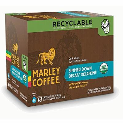 Marley Coffee Simmer Down Decaf Keurig K-Cups, 24 Count