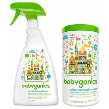 Babyganics Multi Surface Cleaner with All-Purpose Surface Wipes