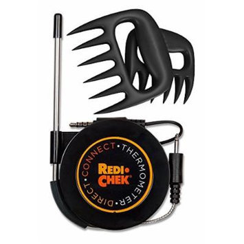 Maverick Redi-Chek Direct Connect Grilling Thermometer - Black including Bear Fork.