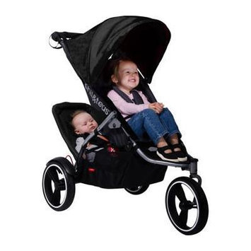 Phil&ted's® S4 Inline Stroller Bundle with Second Seat Doubles Kit - Black