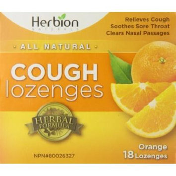 Herbion Naturals Cough Drops, Orange, 18 Count by Herbion Naturals