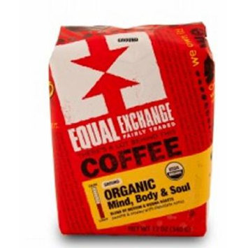 Equal Exchange Organic Coffee, Mind, Body & Soul, Whole Beans, 12 Ounces