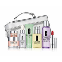 Clinique The Gift of Great Skin Makeup Set in Silvery Train Case