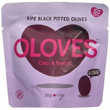 Oloves Chili and Garlic Black Olives (Pack of 30)