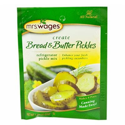 Mrs. Wages Refrigerator Bread & Butter Pickle Seasoning Mix, 1.94 Oz. Pouch (Pack of 2)