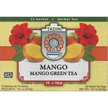 Tadin Mango Green Tea Bag, 25-count