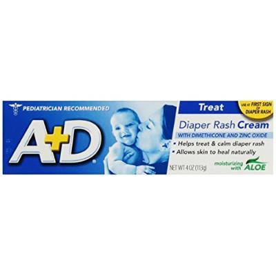 A+D Diaper Rash Cream, Dimethicone Zinc Oxide Cream (Pack of 1)