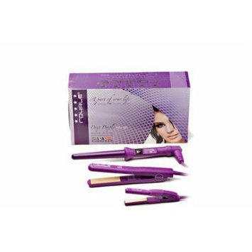 Royale Deep Purple Full Set - Classic Hair Straightener + Grande Curler + Mini Flat Iron