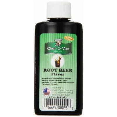 Chef-O-Van Natural-Flavoring-Extract, Root Beer Flavoring, 2 Ounce