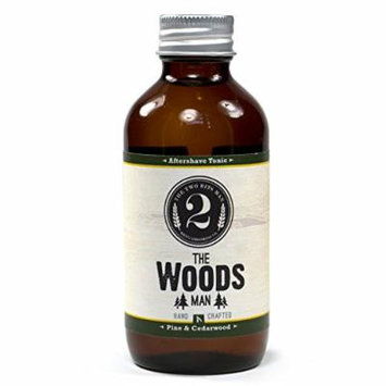 The Woods Aftershave Tonic - Cedarwood and Pine - Essential Oil Scented Aftershave Tonic by The 2 Bits Man (3 oz.)