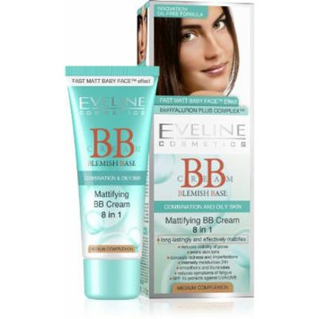Eveline Cosmetics Mattifying BB Cream 8 in 1 - MEDIUM COMPLEXION
