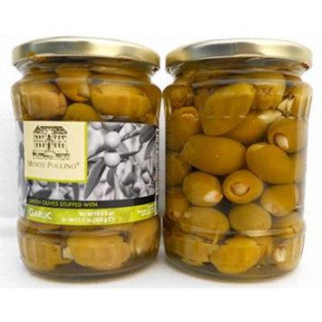 Garlic Stuffed Olives green (6 pack) 19.6oz jars Monte Pollino