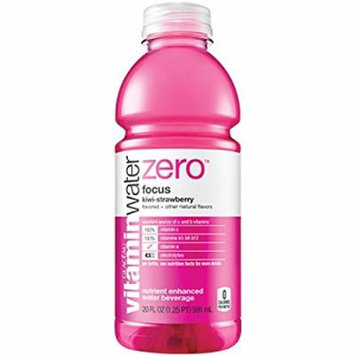 Vitamin Water Zero Focus Kiwi-strawberry 20 Oz Bottles - Pack of 24