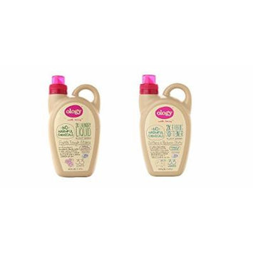 Ology Natural Plant Based Laundry Bundle, 2 Items Total, 1 Laundry Detergent Spring Lavender And Vanilla 50oz 33 Loads, 1 Liquid Fabric Softener 50oz 33 Loads, Sensitive Skin