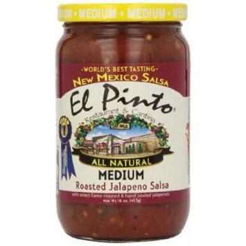 El Pinto Jalapeno Salsa, Medium Roasted, 16 Ounce (Pack of 6)