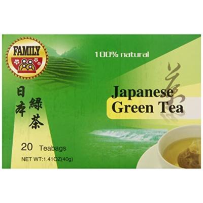 Family Japanese Green Tea Bag, 20 Count (Pack of 12)
